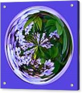 Delicate Flowers Orb Acrylic Print