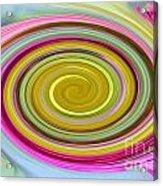 Delicate Pink Twirl Acrylic Print