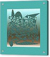 Delicate Turquoize Stroke Acrylic Print