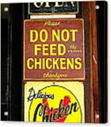 Delicious Chicken Dinners Sign Acrylic Print