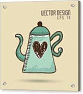 Delicious Coffee Design Acrylic Print