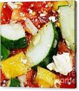 Delicious Vegetable Salad Acrylic Print
