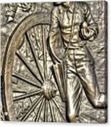 Delivering The Charge - Detail-b 1st New York Light Artillery - Fitzhughs Battery K Gettysburg Acrylic Print