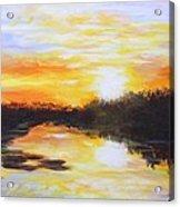 Delta Bayou Sunset Acrylic Print