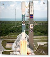 Delta II Launch With Space Telescope Acrylic Print