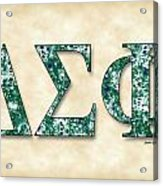Delta Sigma Phi - Parchment Acrylic Print