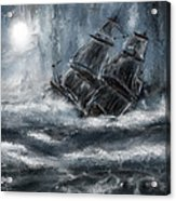 Deluged By The Wave Acrylic Print