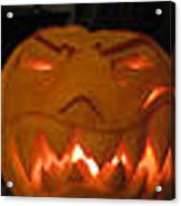 Demented Mister Ullman Pumpkin 2 Acrylic Print