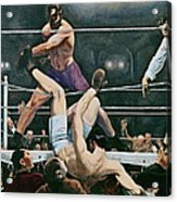 Dempsey V Firpo In New York City Acrylic Print
