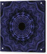 Denim Blues Mandala - Digital Painting Effect Acrylic Print