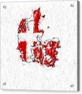 Denmark Painted Flag Map Acrylic Print