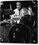 Denny Carmasi On The Drums In 1978 Acrylic Print