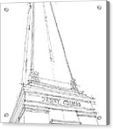 Denny Chimes Sketch Acrylic Print