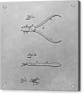 Dental Pliers Patent Drawing Acrylic Print