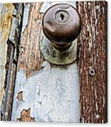 Dented Doorknob Acrylic Print by Caitlyn  Grasso