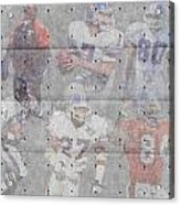 Denver Broncos Legends Acrylic Print