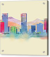Denver Colorado Skyline I Acrylic Print