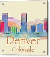 Denver Colorado Skyline II Acrylic Print