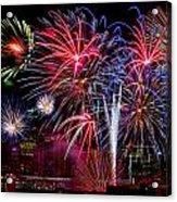 Denver Fireworks Finale Acrylic Print