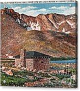 Denver Mountain Parks Antique Post Cards Acrylic Print