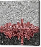 Denver Skyline Abstract 2 Acrylic Print