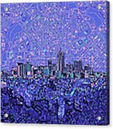 Denver Skyline Abstract 4 Acrylic Print