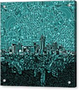 Denver Skyline Abstract 5 Acrylic Print