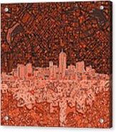 Denver Skyline Abstract 6 Acrylic Print
