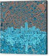 Denver Skyline Abstract Acrylic Print