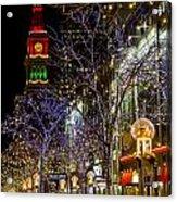 Denver's 16th Street Mall During Holidays Acrylic Print