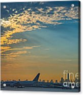 Departing From Ewr  Acrylic Print