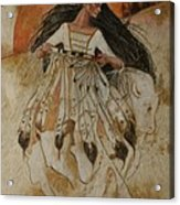 Departure Of White Buffalo Woman Acrylic Print by Pamela Mccabe