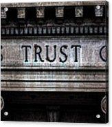 Depositors Trust Company Acrylic Print