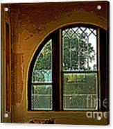 Depot Window Acrylic Print