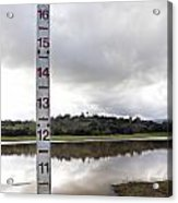 Depth Measuring Stick Lake Lagunita Stanford University Acrylic Print