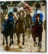 Derby Day Two Of Three Acrylic Print