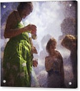 Derby People 1 Water Color 1 Acrylic Print