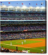 Derek Jeter Leads The Way As The Yankees Take The Field Acrylic Print