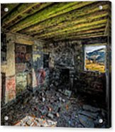 Derelict Cottage Acrylic Print by Adrian Evans