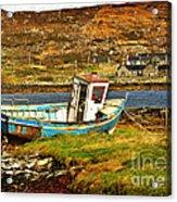 Derelict Fishing Boat On The Irish Coast Acrylic Print
