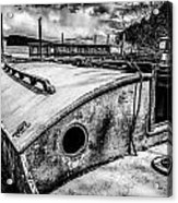 Derelict Sailboat Acrylic Print