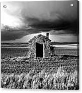 Derelict Stone Shed In  Auvergne. France Acrylic Print by Bernard Jaubert