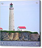 Des-rosiers Lighthouse Is Canada's Tallest In Forillon Np-qc Acrylic Print