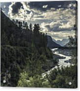Desaturated Mountainscape Acrylic Print