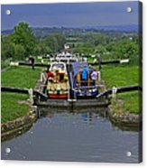 Descending Caen Hill Locks Acrylic Print