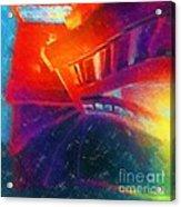 Descending The Stardust Stairway Acrylic Print