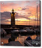 Desenzano Del Garda Marina Old Lighthouse Sunrise Acrylic Print