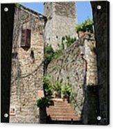 Desert Alley In San Gimignano Acrylic Print