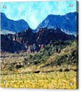 Desert Blue Acrylic Print