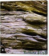 Desert Boulder Detail Acrylic Print